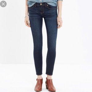 Madewell skinny skinny crop jeans dark wash Sz 30